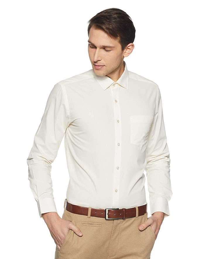 Rs,349/- Diverse Men's Solid Regular Fit Formal Shirt