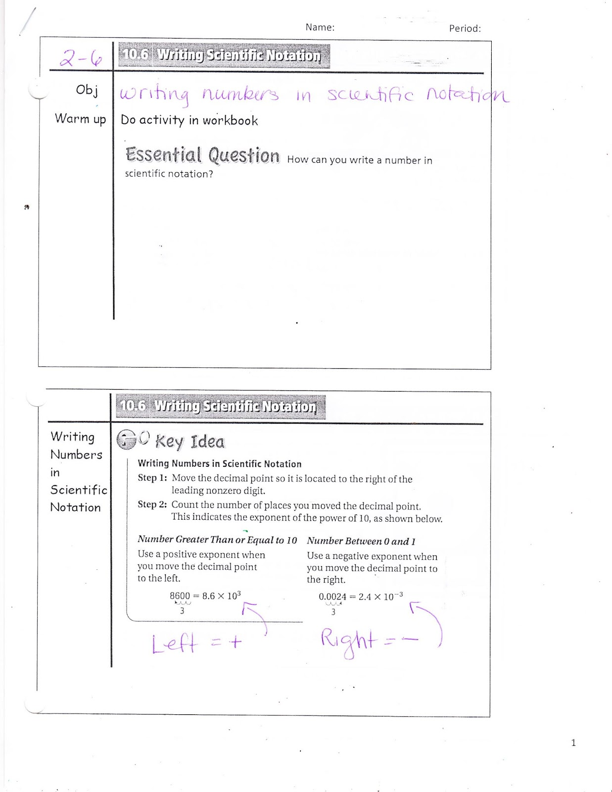 Ms Jean S Accel 7 Blog 10 6 Writing Scientific Notation