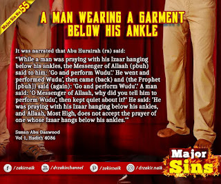 MAJOR SIN. 55.2. A MAN WEARING A GARMENT BELOW HIS ANKLE