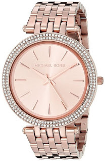 MICHAEL KORS Darci Rose Gold Dial Pave Bezel Ladies MK3192