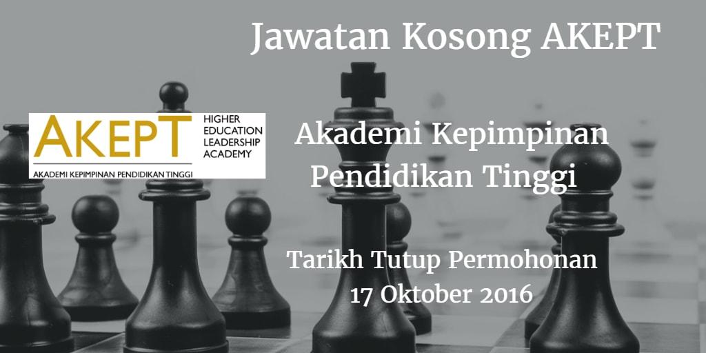 Jawatan Kosong AKEPT 17 Oktober 2016