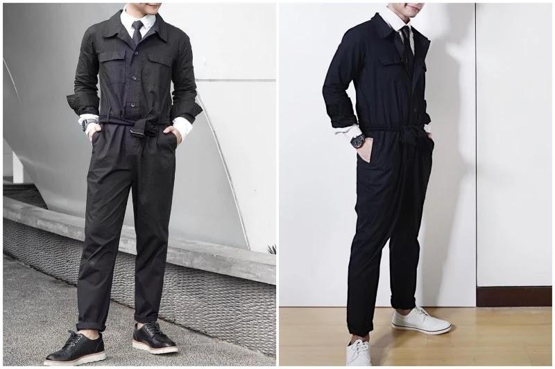 Shirts & tie, Style men's jumpsuit.