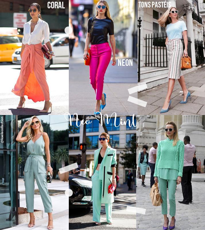 Tendências de cores para moda 2020