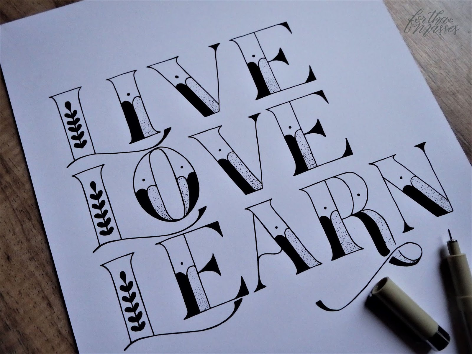 for tha masses live love learn print