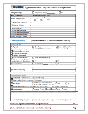 hdfc bank form central