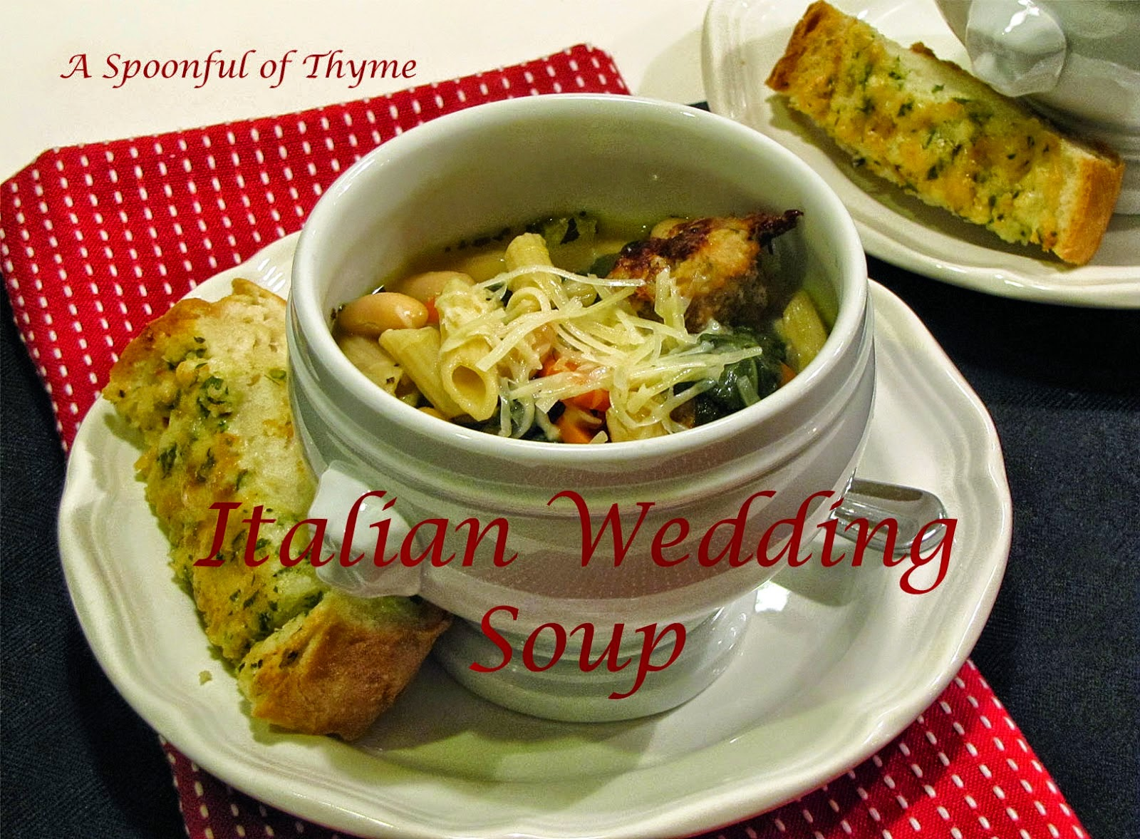 Featured Recipe | Italian Wedding Soup from A Spoonful of Thyme #SecretRecipeClub #recipe #soup