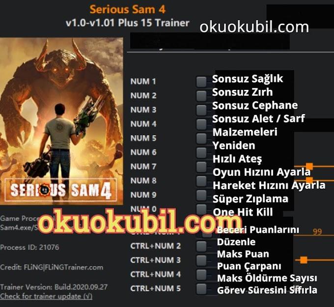 Serious Sam 4 v1.0 – v1.01 Plus 15 Trainer Hileli İndir 2020