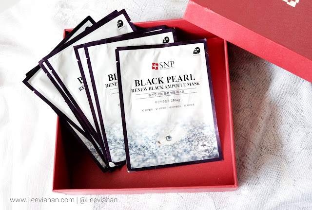 REVIEW SNP Black Pearl Renew Black Ampoule Mask, Sheet Mask, Masker Wajah
