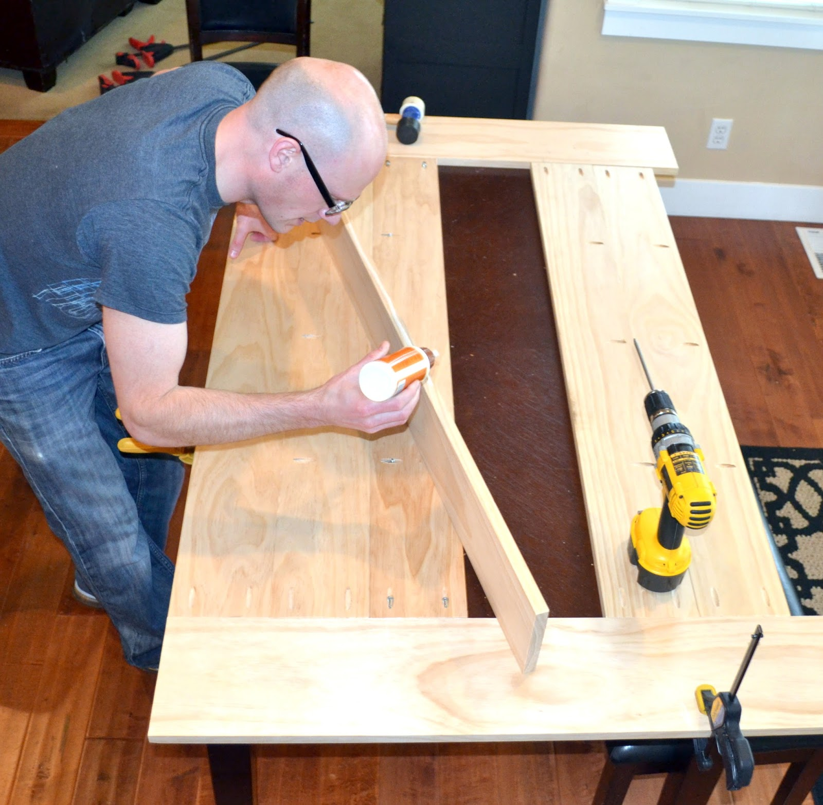 Easy DIY planked table top cover for your existing table ...