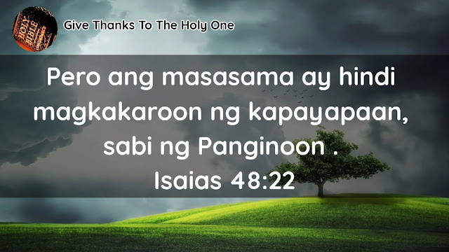 Give Thanks ToThe Holy One Bible Verse About Peace