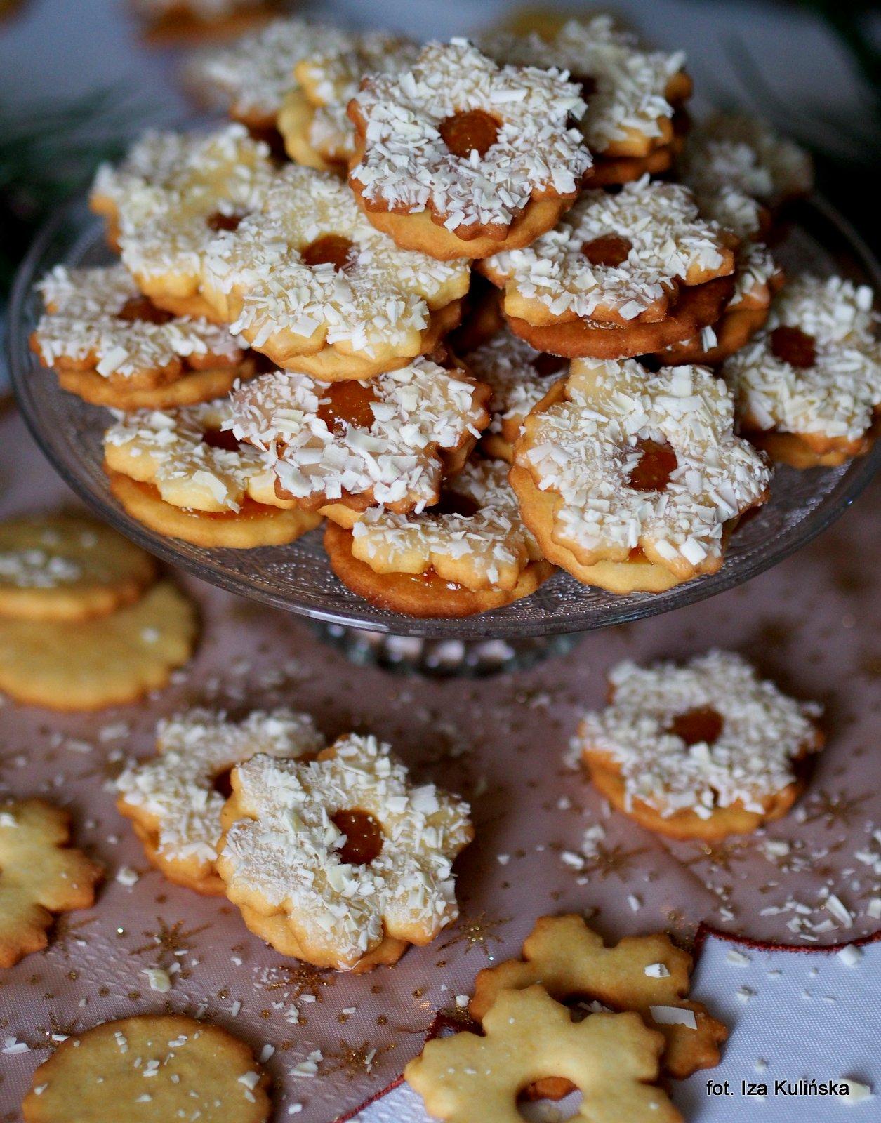Ciasteczka pomarańczowe. Konfitura z gorzkich pomarańczy i biała czekolada