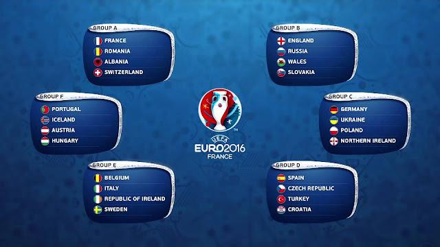 Jadwal Euro Malam Hari Ini 11-12 Juni 2016