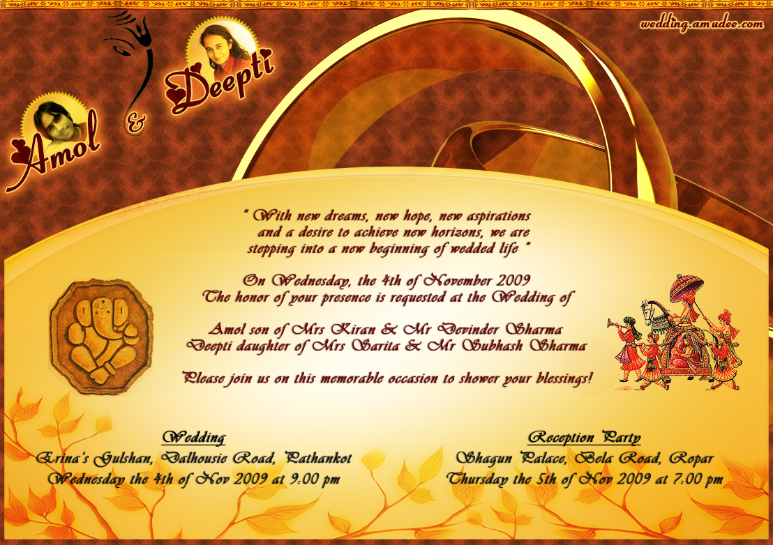 Indian Wedding Invitation Wording For Friends Card: Mehndi Designs 2012: Wedding Invitation