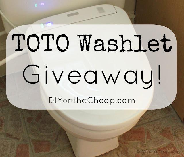TOTO Washlet Giveaway via DIYontheCheap.com