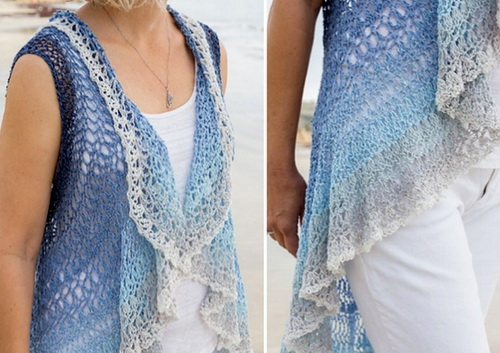 Circular Vest Crochet Pattern, details 2