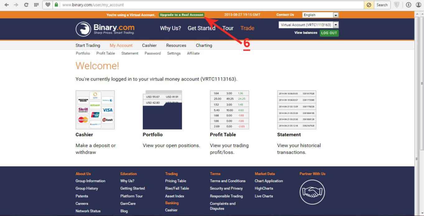 Cara Mendaftar dan Upgrade Akun Real di Binary.com - Uda