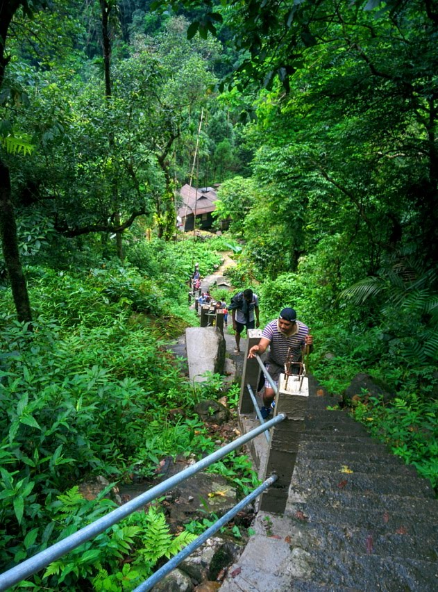The steep 3000 plus steps that lead one to Nongriat village and the living root bridges of Meghalaya