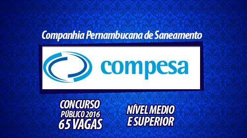 Concurso Compesa Pernambuco 2016