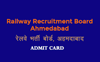 rrb ahmedabad technician admit card 2018