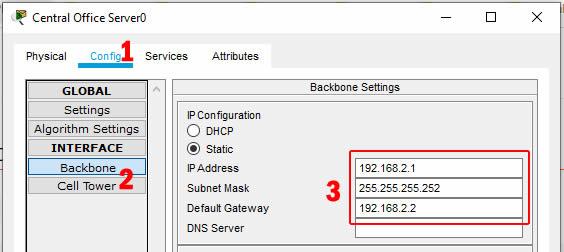 konfigurasi ip backbone