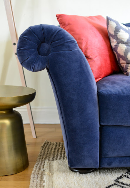 Chesterfield sofa bed arm