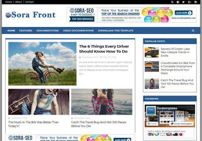 Sora Font Premium Blogger Template [Free Download]