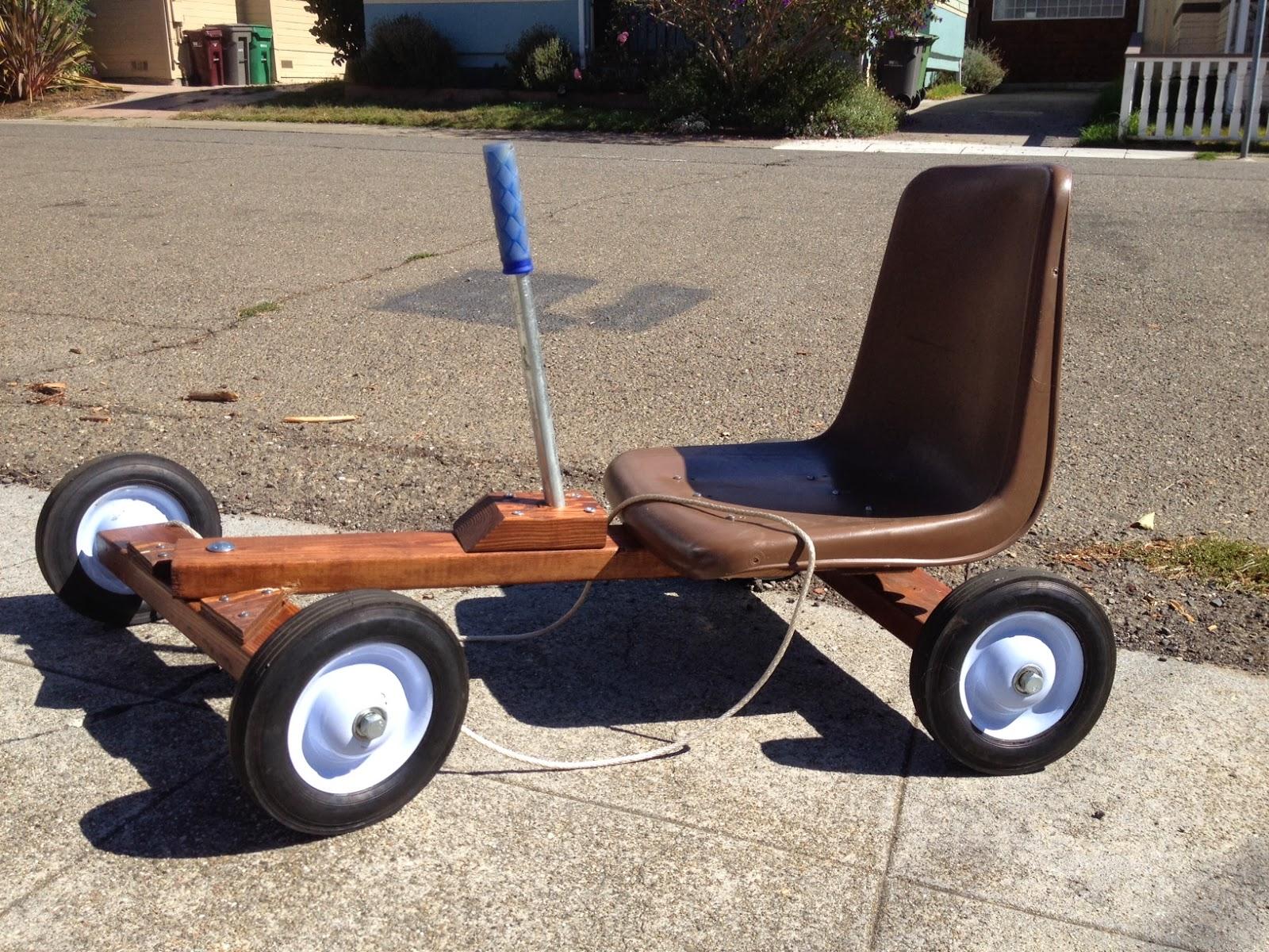 Our Red Wheelbarrow Push Go Karts