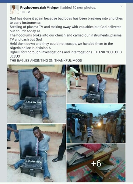 How a Criminal Who Broke Into a Church to Steal Plasma TV, Other Valuables in Delta was Caught (Photos)