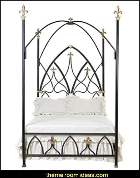 Gothic Nights Canopy Bed King