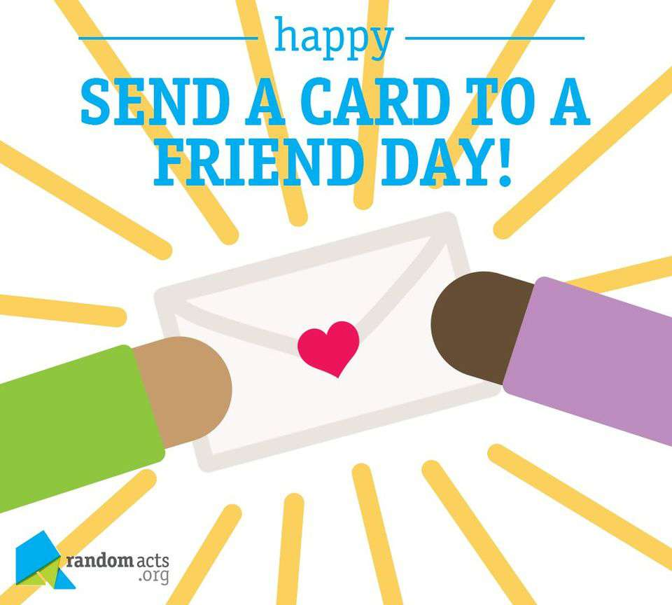 National Send a Card to a Friend Day Wishes Photos