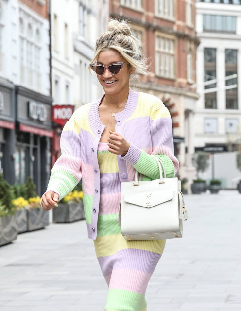 Ashley Roberts – Wearing an Olivia Rubin outfit and ASOS heels while out in London