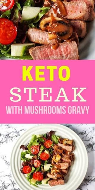 Keto Grilled Steak Recipe with Mushrooms Gravy