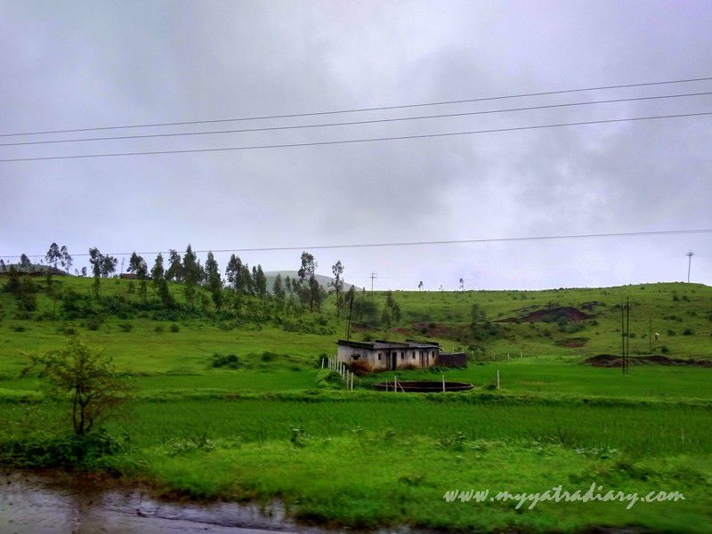 Gorgeous nature views on the Trimbakeshwar -Ghoti road near Nashik in Maharashtra