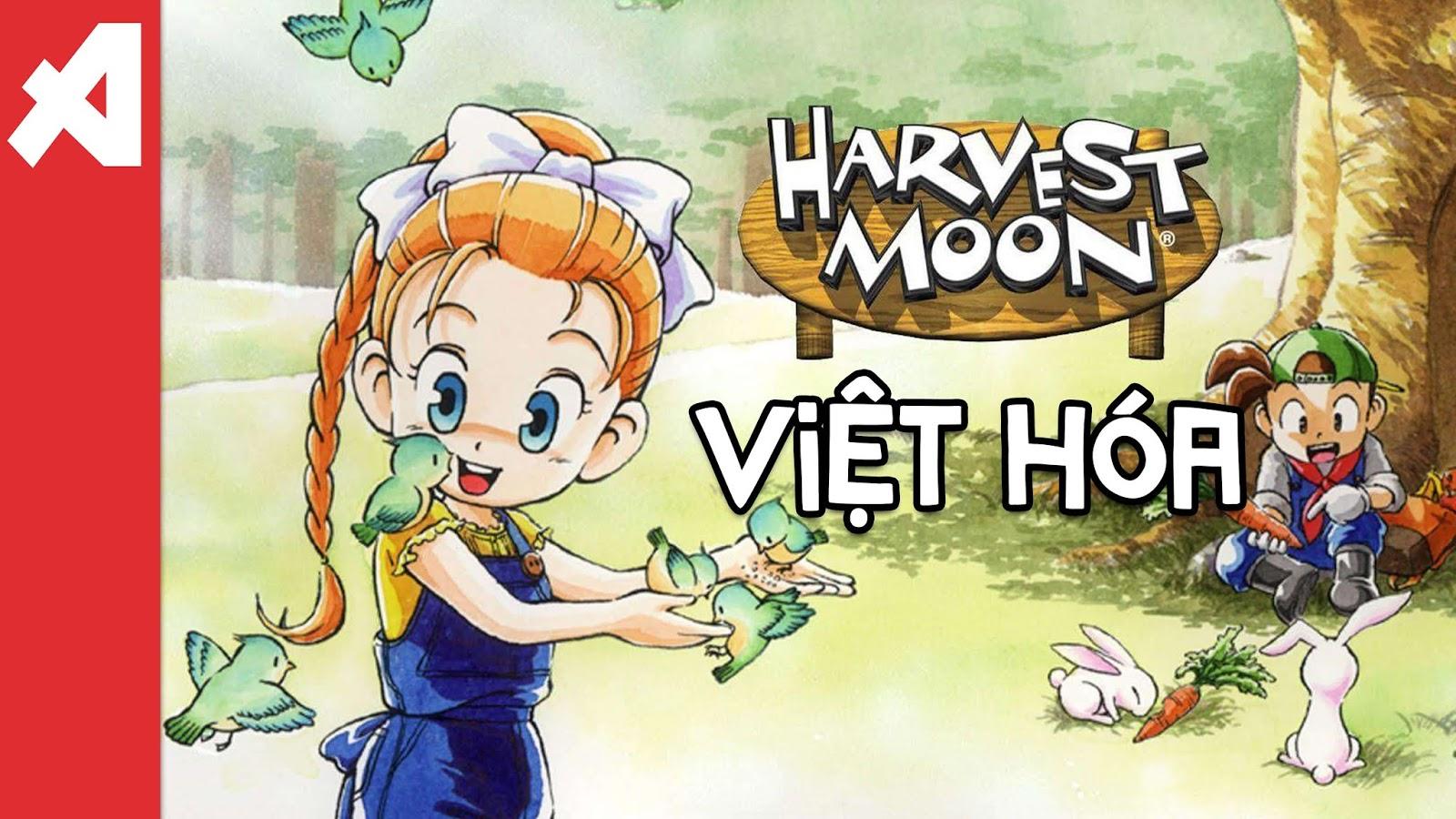 game harvest moon viet hoa ps1 back to nature aowvn - [PS1] Game Harvest Moon : Back To Nature Việt Hóa | Giả lập Android & PC - tiếp tục làm nông nào