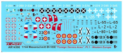 "AR14306 - 1/144 Messerschmitt Bf 109E ""Foreign Service Aces"", Pt.1 picture 3"