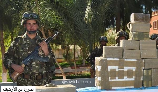 عناصر الجيش توقف تاجري مخدرات بحوزتهما 9.4 كلغ كيف معالج  بالشلف