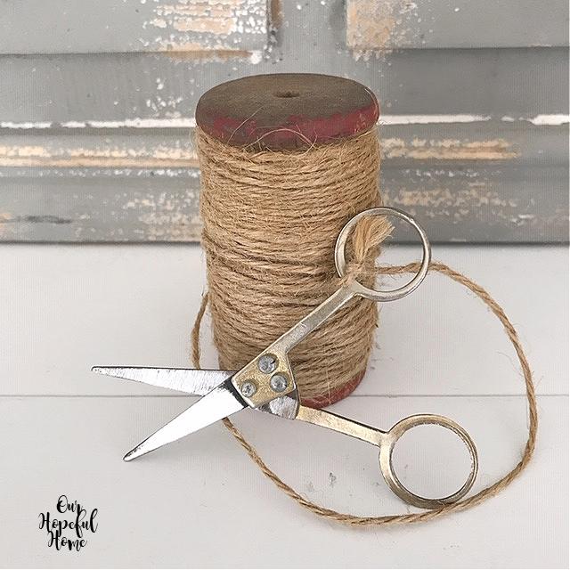 vintage twine spool embroidery scissors