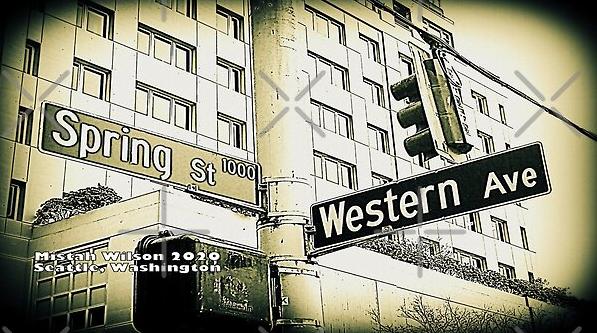 Spring Street & Western Avenue, Seattle, Washington by Mistah Wilson