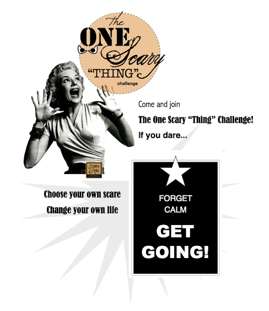 The One Thing Scary Challenge via Funky Junk Interiors - make your dreams come true!