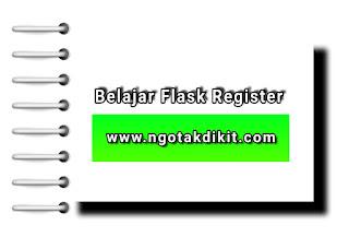 Belajar Python Flask Register