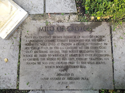The engraved stone telling the story of Milo of Corton
