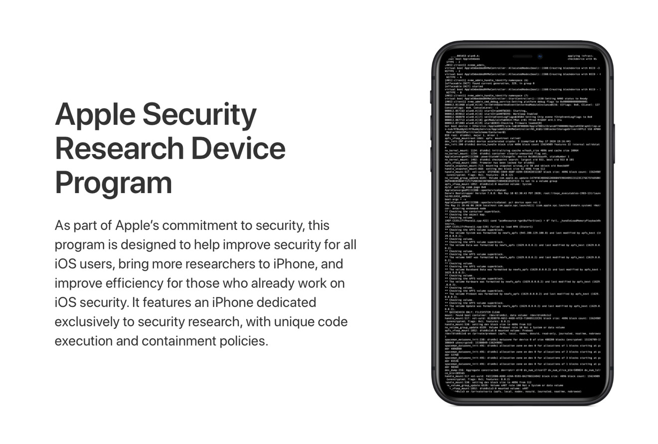 Apple Security Research Device Program