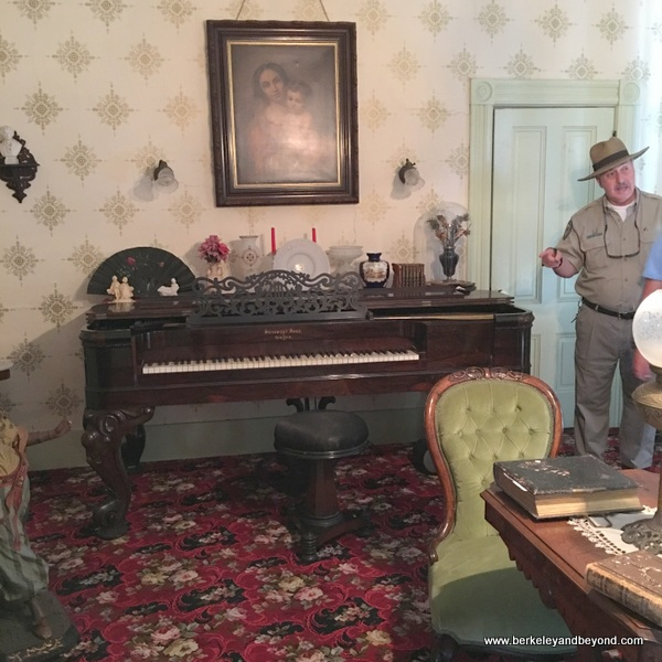1864 Box Steinway piano in Fischer-Hanlon House at Benicia Capitol State Historic Park in Benicia, California