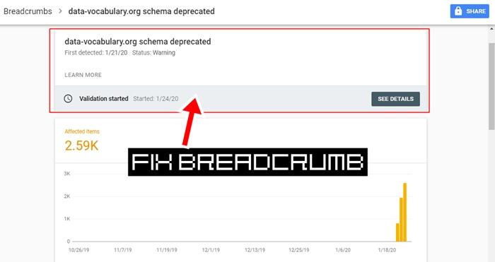 Error Breadcrumb di Search Console Blogger
