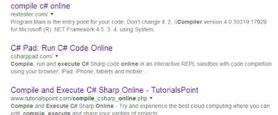 C# online compilers