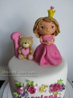 bolo ursinho princesa aniversário bragança doces opções