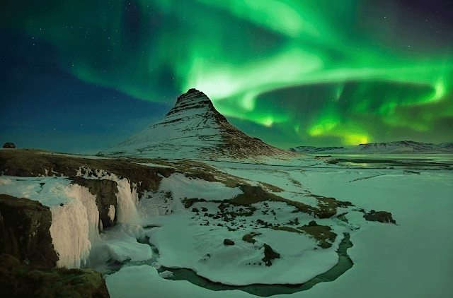 Iceland wallpaper northern lights aurora borealis
