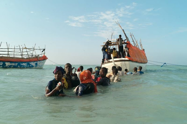 25 Ethiopians feared submerged once forced to swim to Yemeni shore