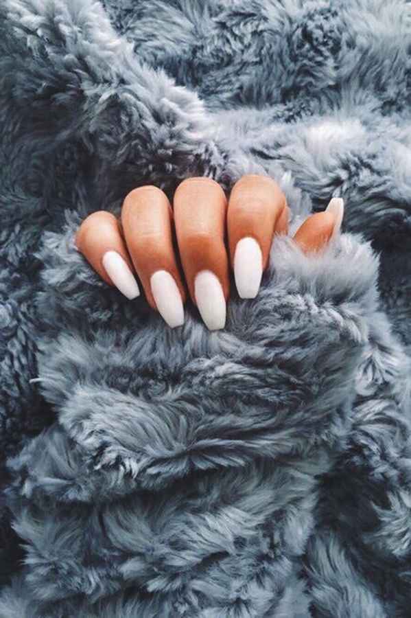 White Nail Polish Love