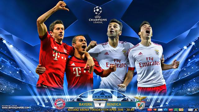 Bayern x Benfica (05/04/2016) - Champions League - Data, Horário e TV
